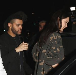 The Weeknd and Bella Hadid at Craigs