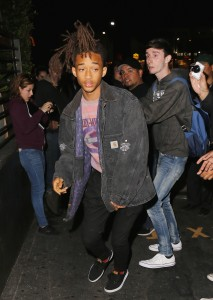 Jaden Smith ducks out of the Young Hollywood  Nylon Party at hyde in a red jeep