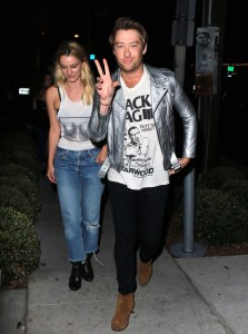 Drew Mac arrives at Gracias Madre in West Hollywood