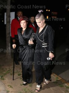 163346, Sharon Osbourne and Kelly Osbourne celebrate Elton John's 70th Birthday and 50-Year Songwriting Partnership with Bernie Taupin benefiting the Elton John AIDS Foundation and the UCLA Hammer Museum at RED Studios Hollywood. Los Angeles, California - Saturday March 25, 2017. Photograph: © MHD, PacificCoastNews. Los Angeles Office (PCN): +1 310.822.0419 UK Office (Avalon): +44 (0) 20 7421 6000 sales@pacificcoastnews.com FEE MUST BE AGREED PRIOR TO USAGE