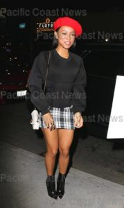 170588, Karrueche Tran at Beauty and Essex for Christina Milian's 36th birthday party. Los Angeles, California - Tuesday September 26, 2017. Photograph: © MHD, PacificCoastNews. Los Angeles Office (PCN): +1 310.822.0419 UK Office (Avalon): +44 (0) 20 7421 6000 sales@pacificcoastnews.com FEE MUST BE AGREED PRIOR TO USAGE