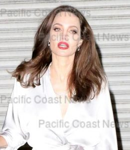 171918, Angelina Jolie leaves the 21st Annual Hollywood Film Awards at The Beverly Hilton Hotel. Los Angeles, California - Sunday November 5, 2017. Photograph: © MHD, PacificCoastNews. Los Angeles Office (PCN): +1 310.822.0419 UK Office (Avalon): +44 (0) 20 7421 6000 sales@pacificcoastnews.com FEE MUST BE AGREED PRIOR TO USAGE