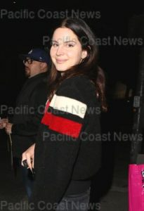 Lana Del Rey shows a sparkling pair of diamond heels as she takes a break from her extensive touring to attend the movie premiere of The Orchard's 'Flower' at the Arclight Theatre in Hollywood with friends. Los Angeles, California - Tuesday March 13, 2018.  Photograph: © MHD, PacificCoastNews. Los Angeles Office (PCN): +1 310.822.0419 UK Office (Avalon): +44 (0) 20 7421 6000 sales@pacificcoastnews.com FEE MUST BE AGREED PRIOR TO USAGE