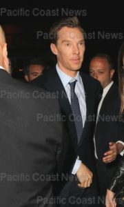 Benedict Cumberbatch and Sophie Hunter arrive at the after party for Showtime TV premiere 'Patrick Melrose' at Beauty & Essex. Los Angeles, California - Wednesday April 25, 2018.   Photograph: © MHD, PacificCoastNews. Los Angeles Office (PCN): +1 310.822.0419 UK Office (Avalon): +44 (0) 20 7421 6000 sales@pacificcoastnews.com FEE MUST BE AGREED PRIOR TO USAGE